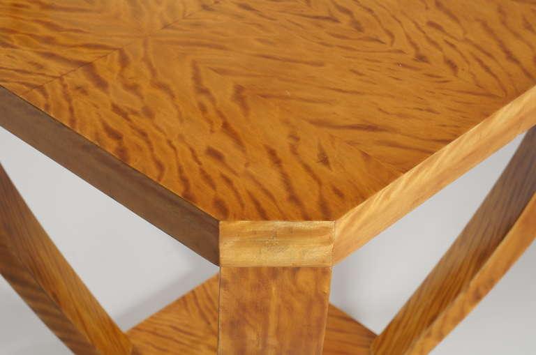 Lemon wood side table for sale at stdibs