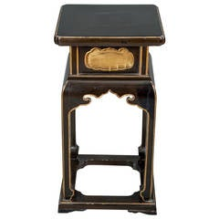 Black and Gold Temple Table