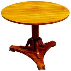 Fine Biedermeier Round Center Table