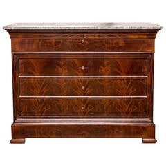 Louis Philippe Secretary with Marble Top