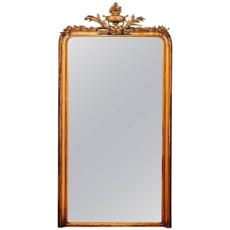 Large 19th century french mantle mirror for sale at 1stdibs for Mantel mirrors