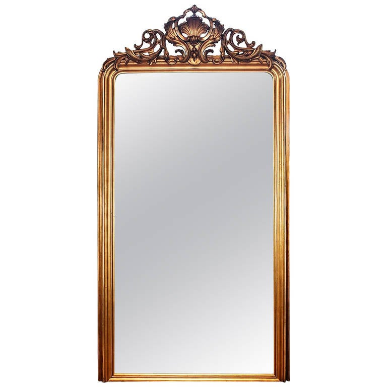 French louis philippe large mantle mirror at 1stdibs for Mantle mirror