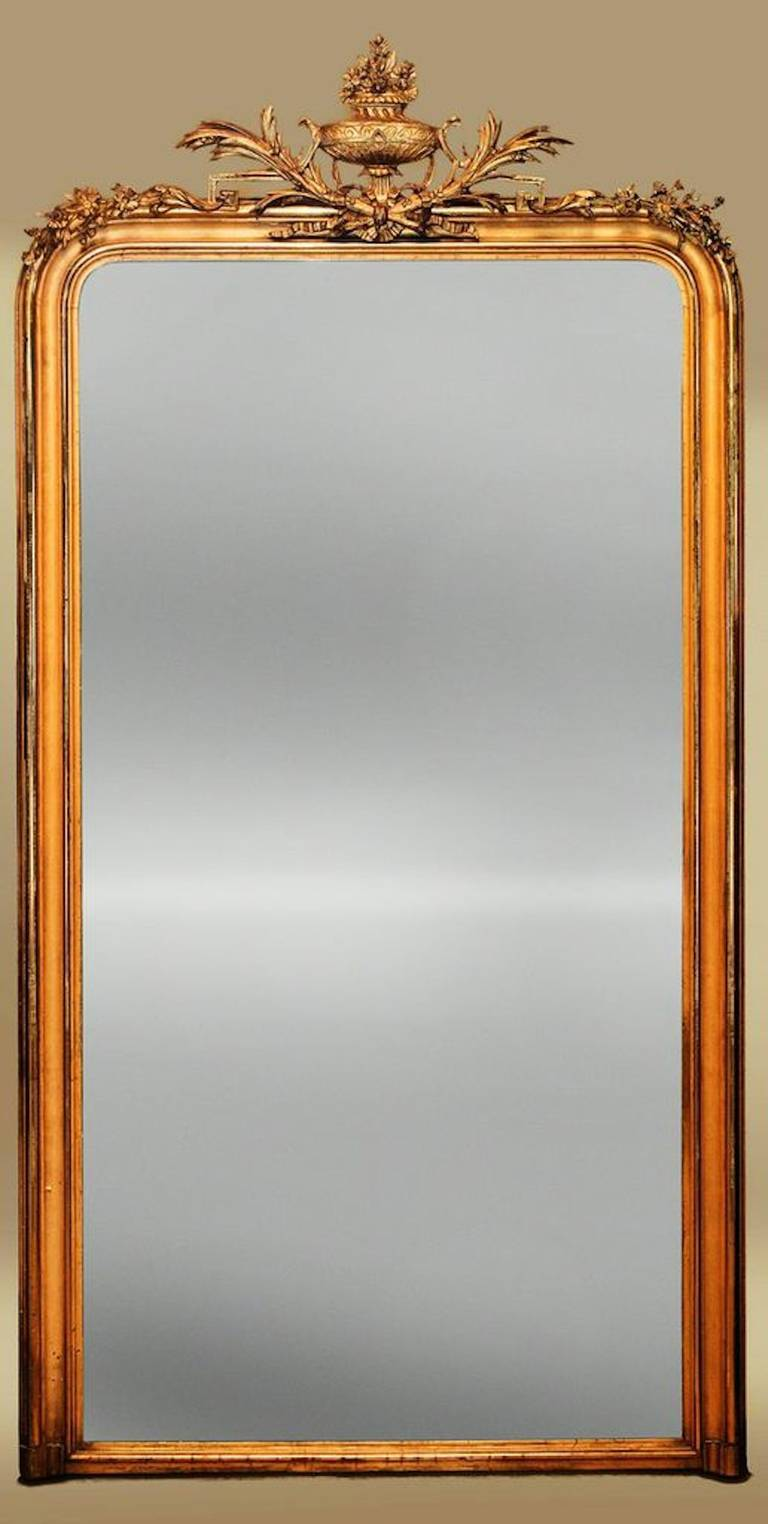 large 19th century french mantle mirror at 1stdibs. Black Bedroom Furniture Sets. Home Design Ideas