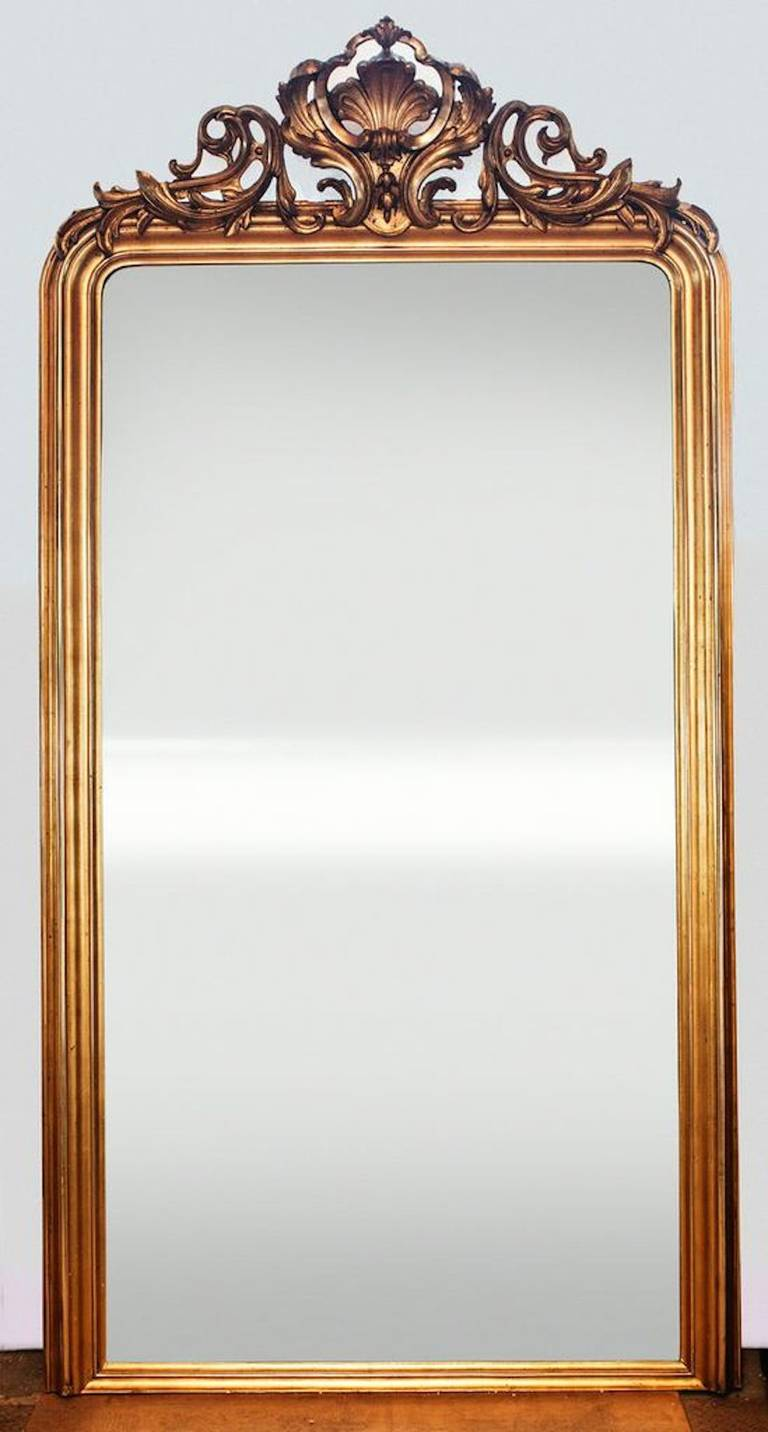 French louis philippe large mantle mirror at 1stdibs for Mantel mirrors