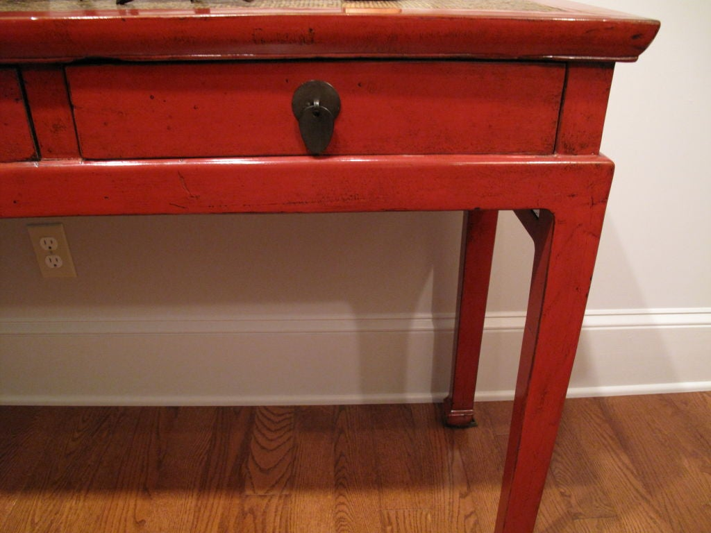 Chinese red lacquer console table for sale at 1stdibs - Used console table for sale ...