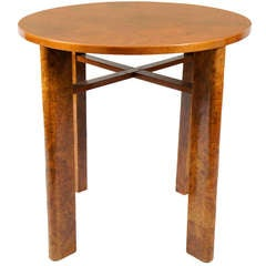 Burl Wood Art Deco Side Table