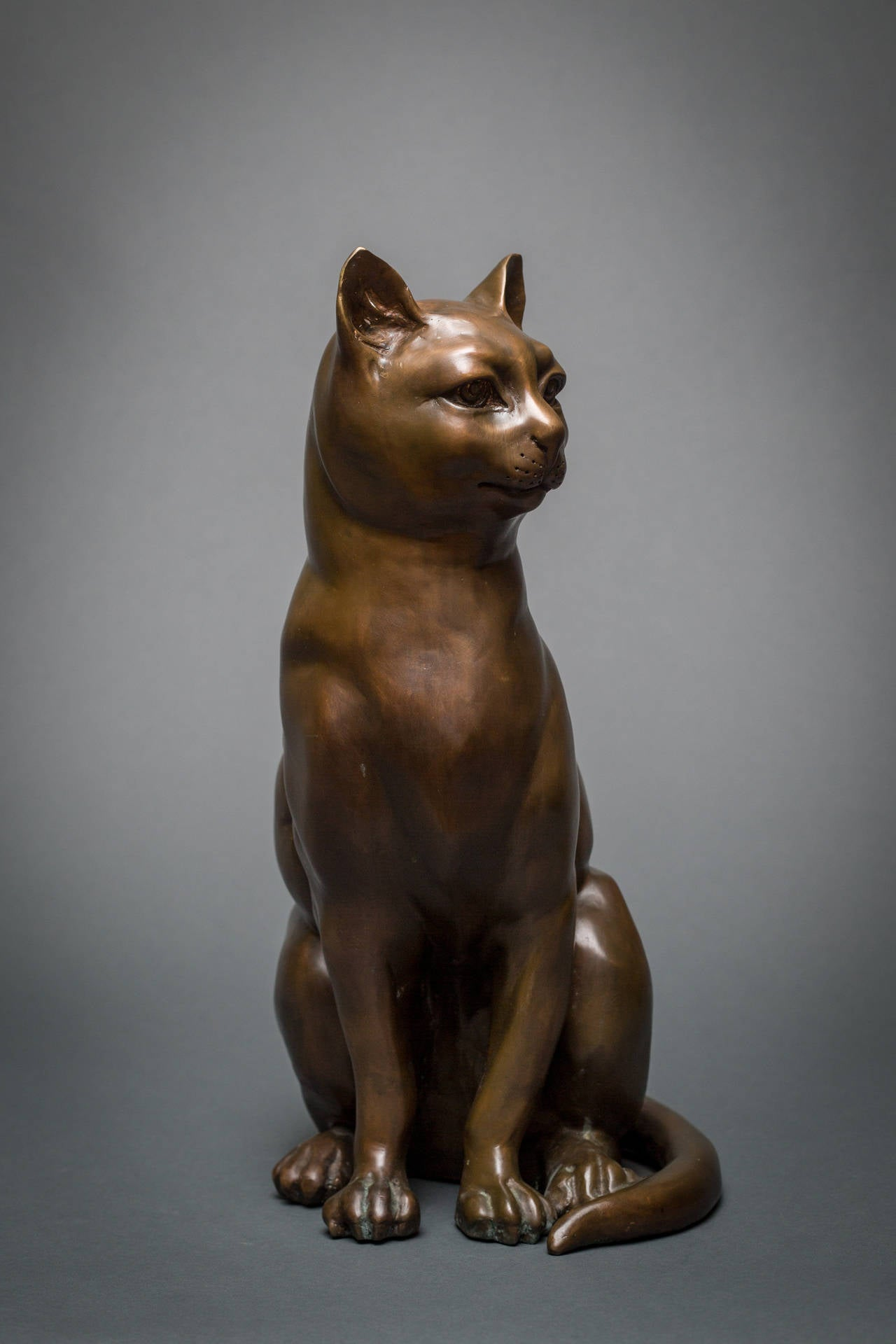 20th Century French Bronze Cat Sculpture For Sale