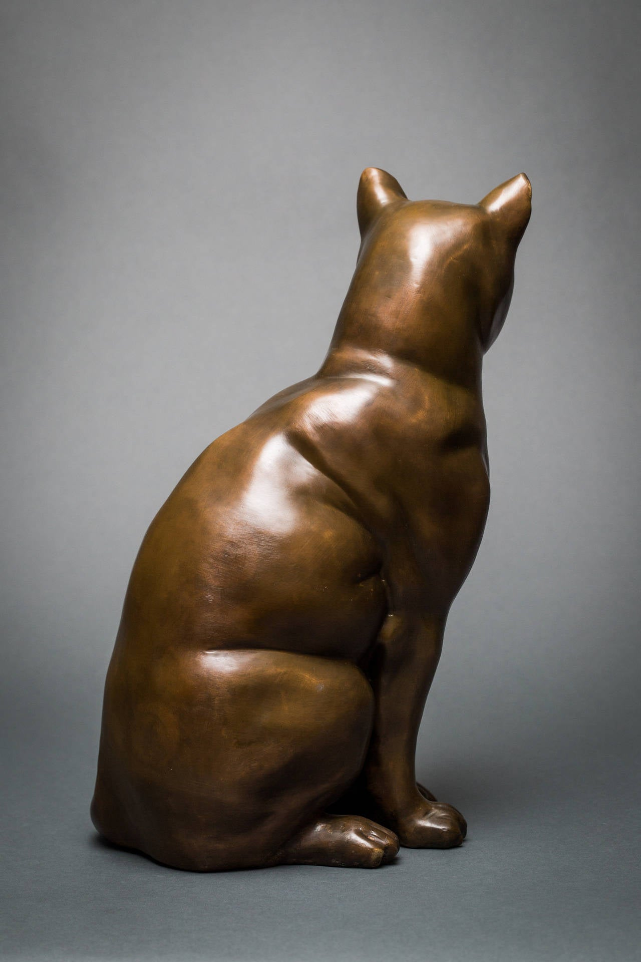 French Bronze Cat Sculpture For Sale 2
