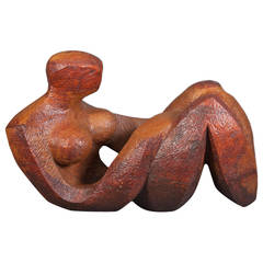 Abstract Sculpture of a Reclining Woman by Robert Hughes