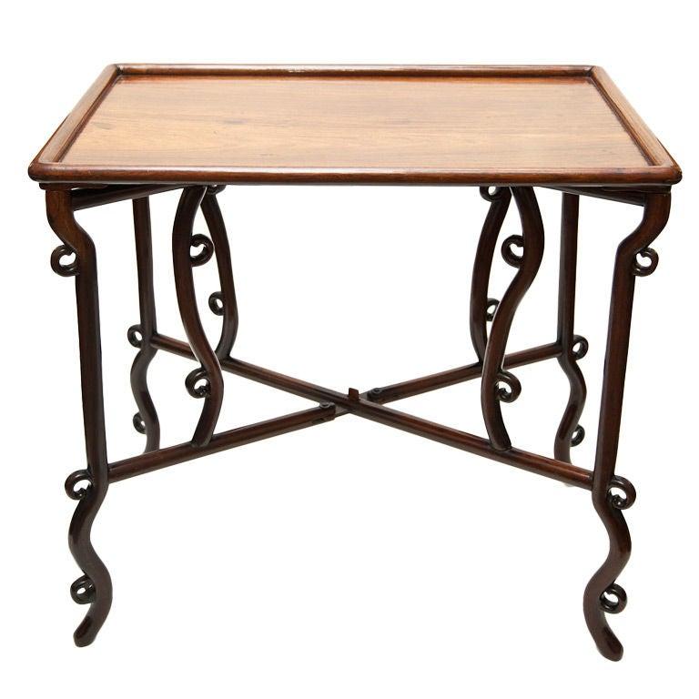 Chinese Hongmu Wood Folding Game Table 1