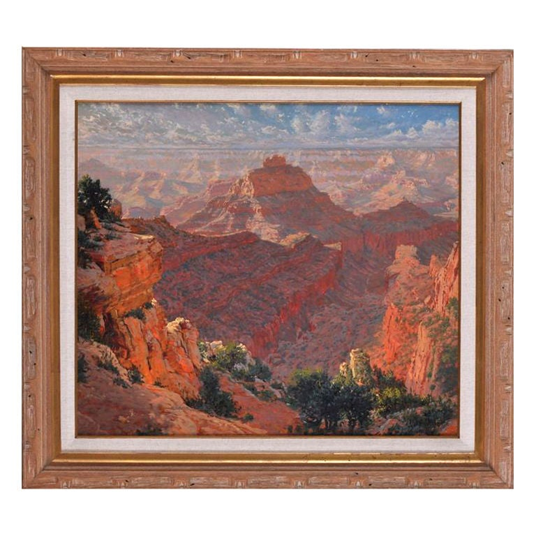 Richard Iams Painting, Mountain Landscape