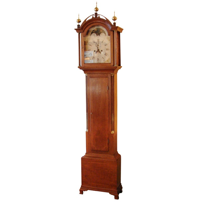 New England 8 Day Time and Strike Tall Case Clock