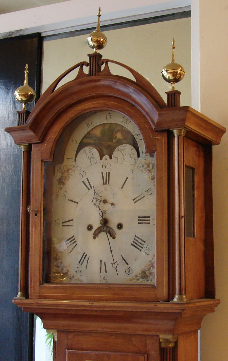 New England 8 Day Time and Strike Tall Case Clock image 2