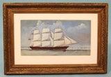 English Watercolor of a  Sailing Ship image 2