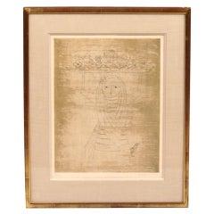 Signed Engraving by Keiko Minami (Japanese, 1909-2004)