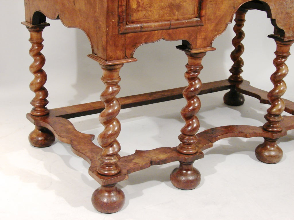 William and Mary Style Walnut Lowboy image 2