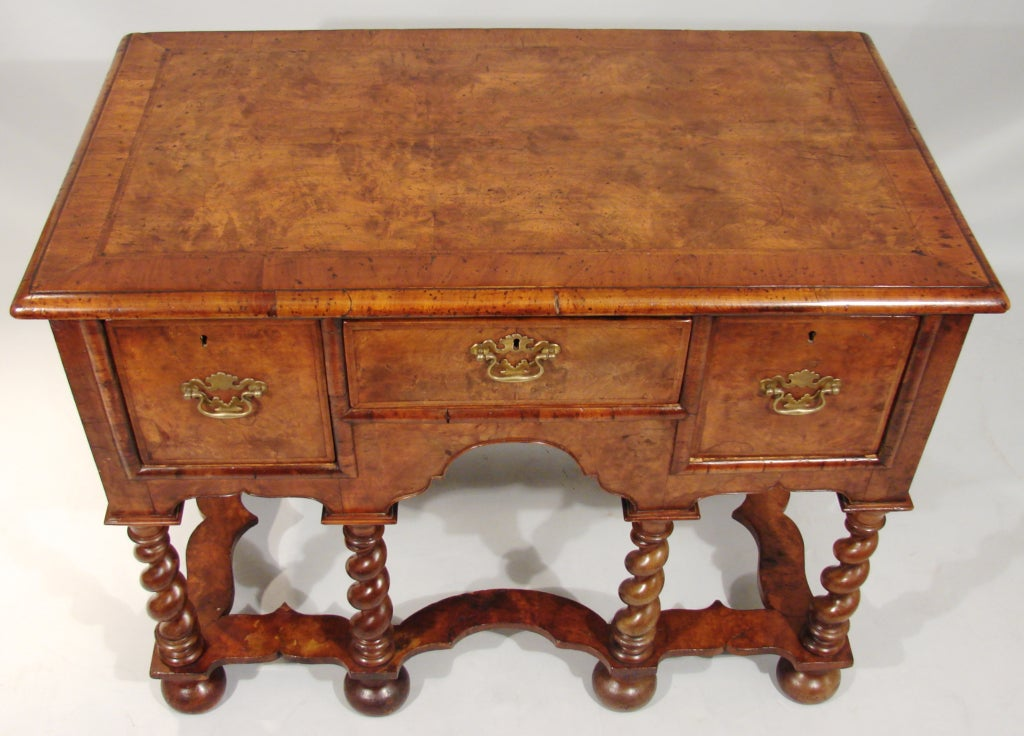 William and Mary Style Walnut Lowboy image 3