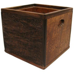 Square Form Japanese Hibachi in Exotic Woods
