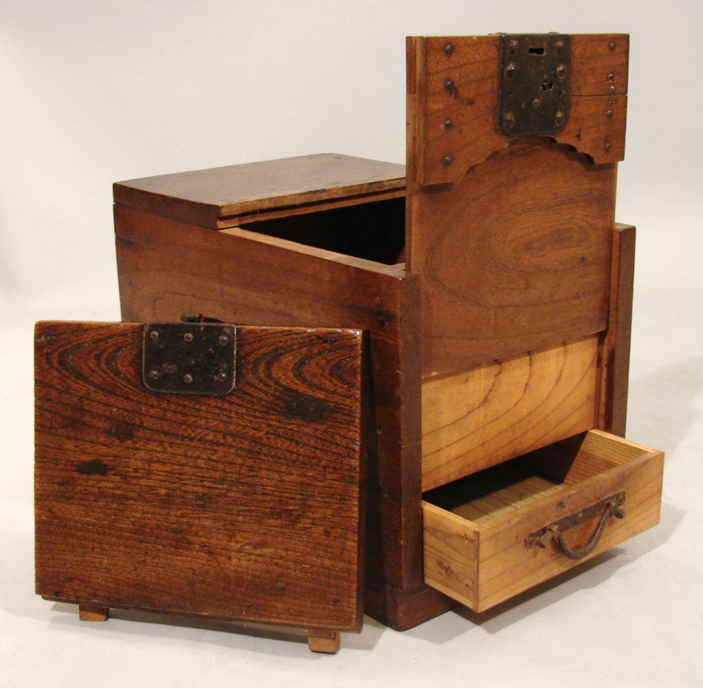 Japanese merchant 39 s chest zenibako with a secret Secret drawer
