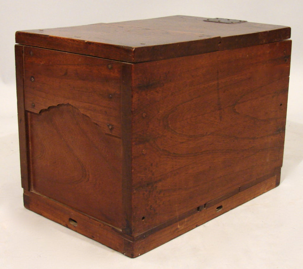Japanese merchant 39 s chest zenibako with a secret for Furniture w hidden compartments