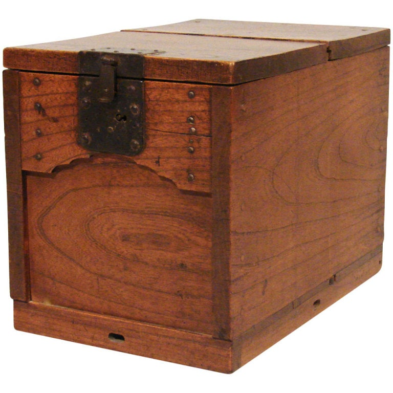 Japanese Merchant 39 S Chest Zenibako With A Secret Compartment At 1stdibs