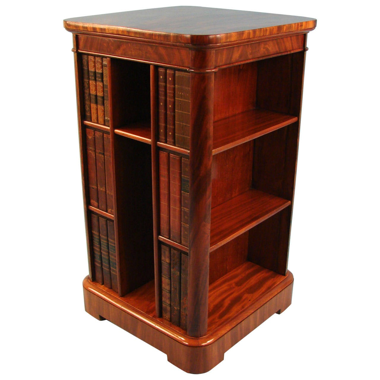 Unusual Bookcases Fine And Unusual English Mahogany Compact Bookcase At 1Stdibs