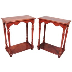 Pair of Louis XIII Style Walnut Tables