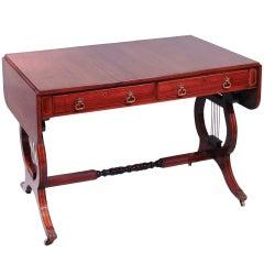 Good Regency Rosewood Brass Inlaid Sofa Table