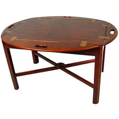 Regency Mahogany Butler's Table on Later Stand