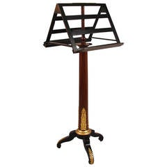 Empire Style Parcel Ebonized Mahogany Ormolu-Mounted Duet Music Stand