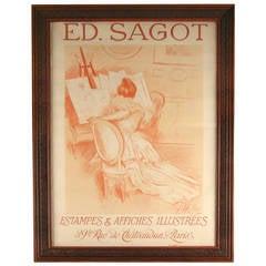 Original Lithograph Poster by Paul Cesar Helleu