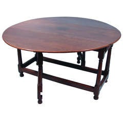 Large Provincial English Oak 18th Century Gateleg Table
