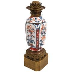 Chinese Imari Vase Now As Lamp
