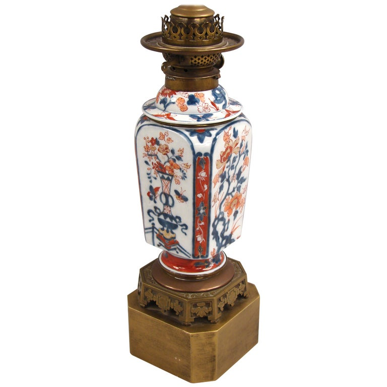 Chinese Imari Vase Now As Lamp For Sale