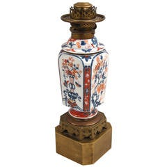 Chinese Imari Vase Now As Lamp
