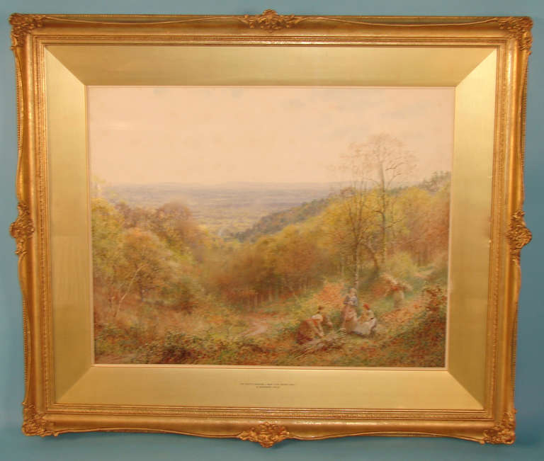 A very pretty watercolor on paper landscape painting by Charles Gregory (British 1849-1920) entitled