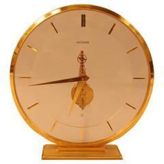 LeCoultre Mid-Century 16-Jewel, Eight-Day Movement Skeleton Clock