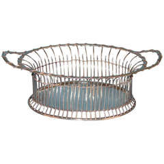Unusual English Sterling Silver Basket, Hallmarked for London, 1898