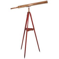 French Brass Telescope and Spotter Scope by A. Bardou