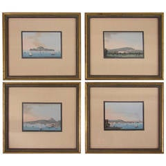 Group of Four Finely Painted Italian Watercolors