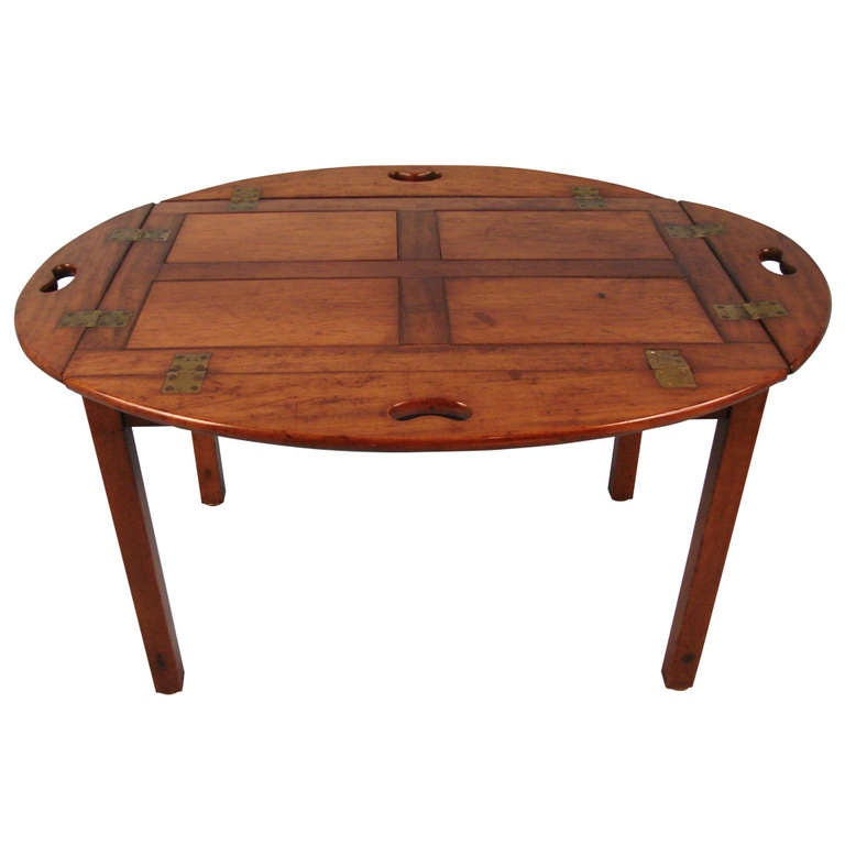 Georgian style mahogany butler 39 s tray with collapsible sides at 1stdibs Butler coffee tables