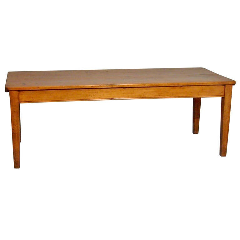 Large French Farm Table With 2 Drawers At 1stdibs
