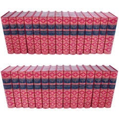 Thirty Volume Set Works of Charles Dickens Bound in Full Calf