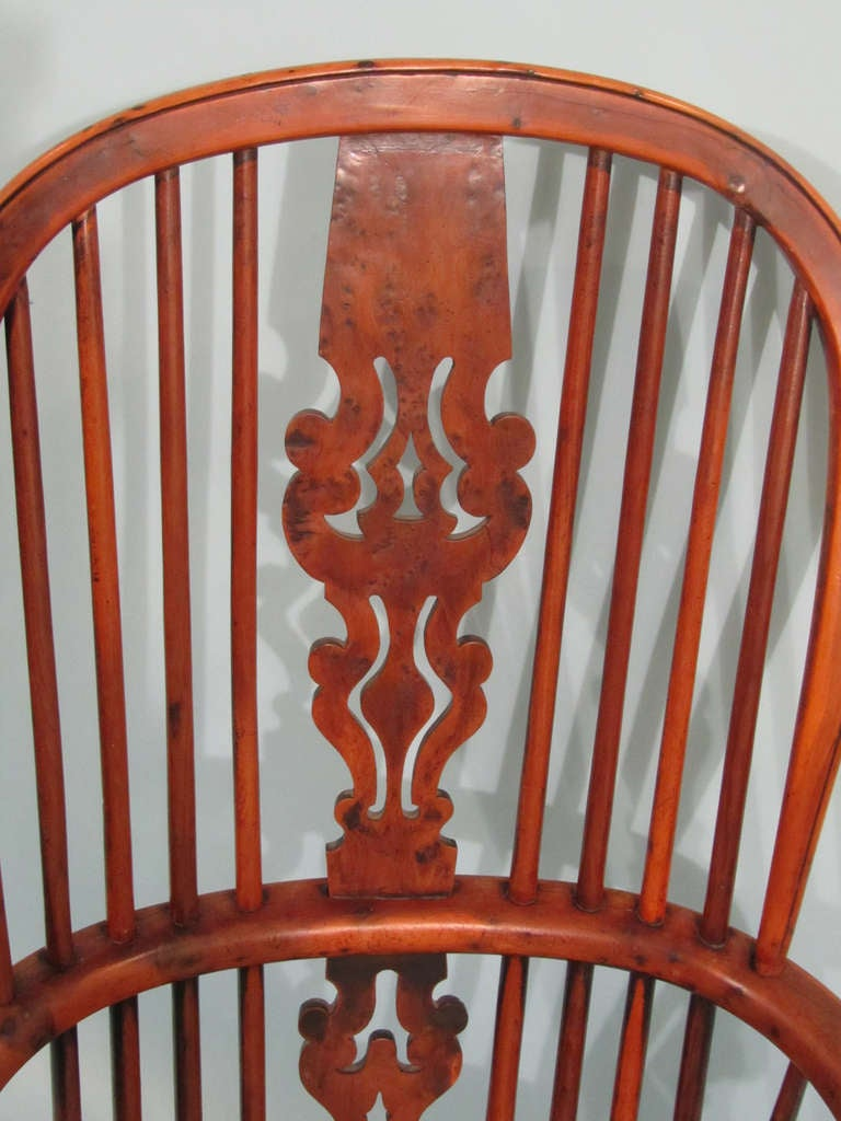 Yew Wood And Elm High Back Windsor Arm Chair At 1stdibs