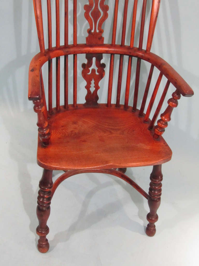 Windsor Arm Chairs ~ Yew wood and elm high back windsor arm chair at stdibs