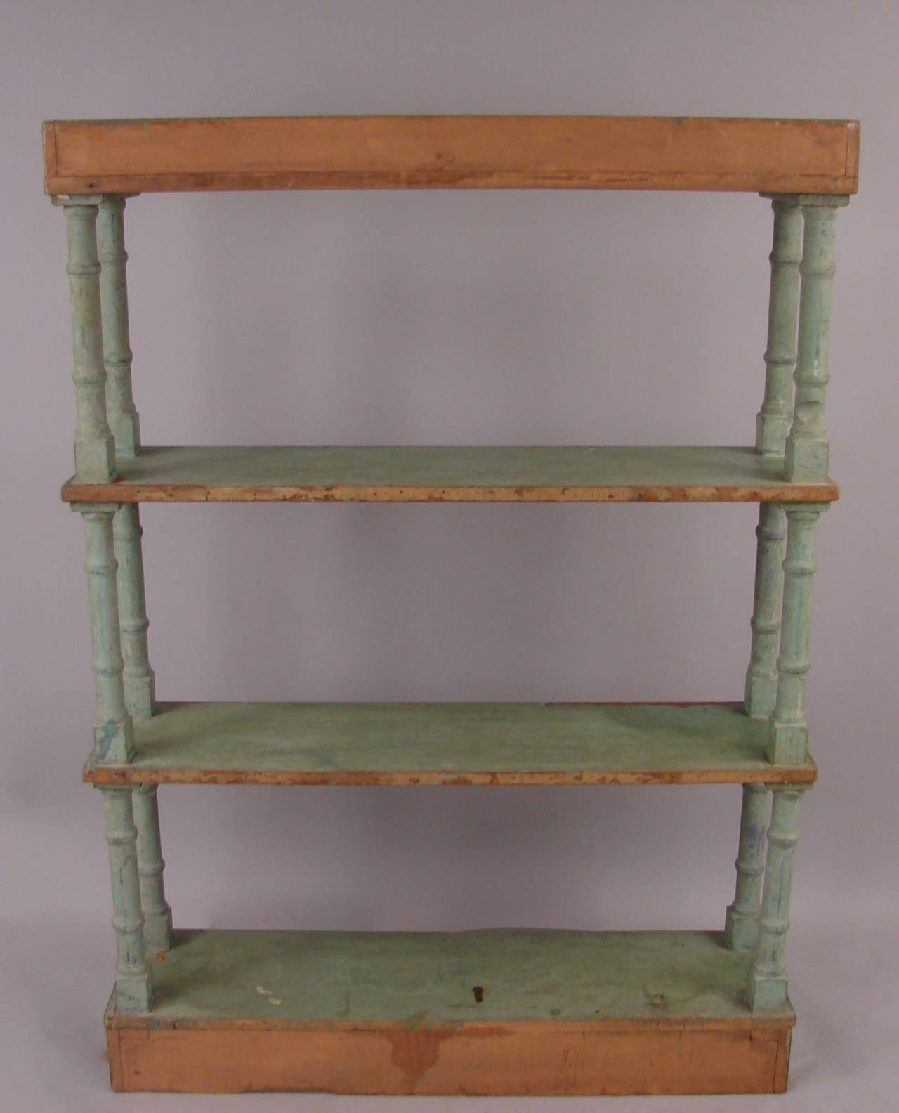 victorian painted open bookcase or tager for sale at 1stdibs. Black Bedroom Furniture Sets. Home Design Ideas