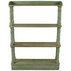 Victorian Painted Open Bookcase or Étagerè