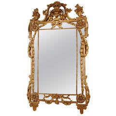 Handsome French Regence Giltwood Mirror