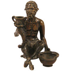 After Eugene Louis Lequesne, French Bronze of a Satyr Sculpture
