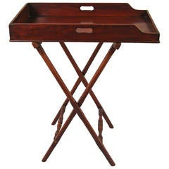 Georgian Style Mahogany Butler's Tray on Stand